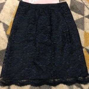 Navy Blue Maggy London Lace Skirt, Size 8